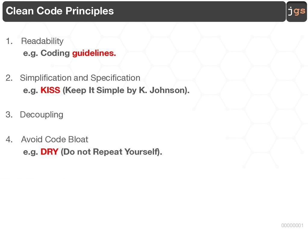 jgs 00000001 Clean Code Principles 1. Readabili...