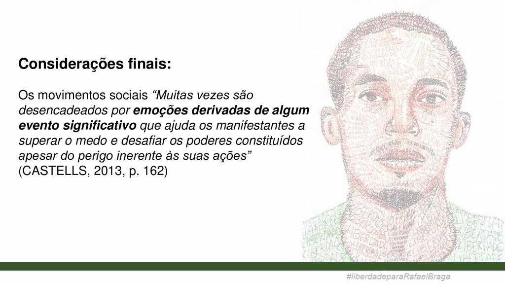 """Considerações finais: Os movimentos sociais """"Mu..."""