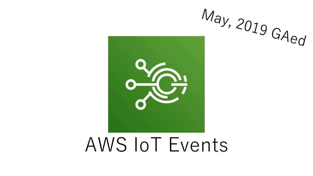 AWS IoT Events