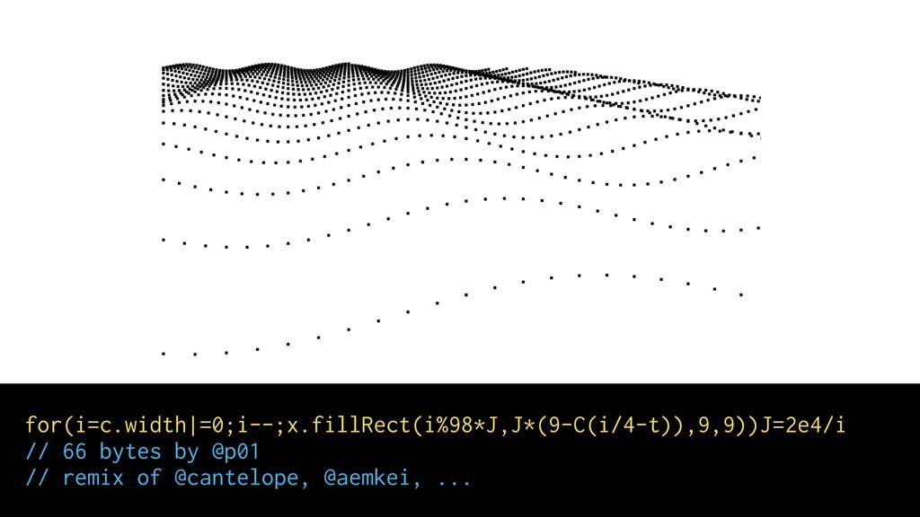 for(i=c.width =0;i--;x.fillRect(i%98*J,J*(9-C(i...