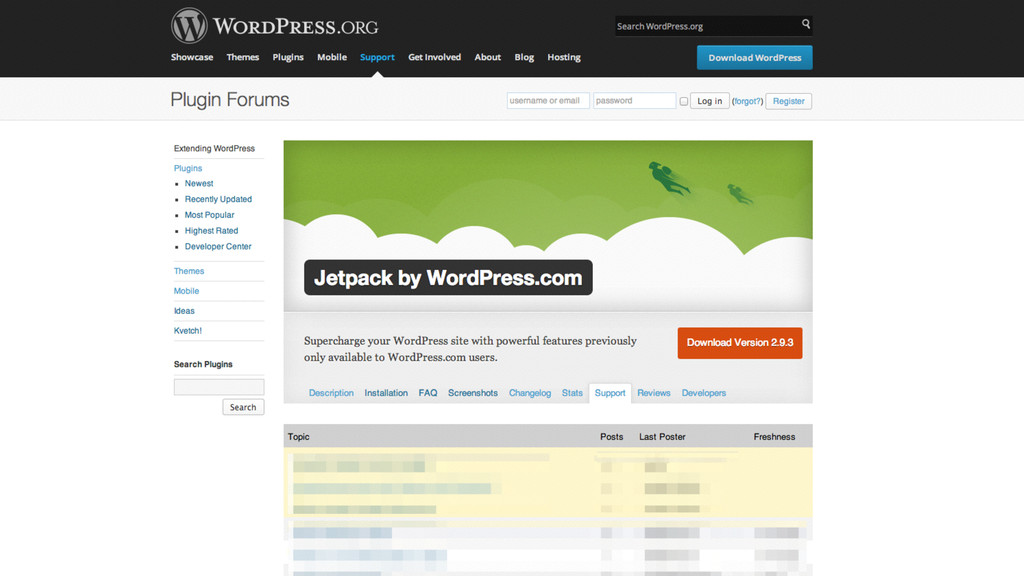 where. WordPress.com WordPress.org forums Plugi...