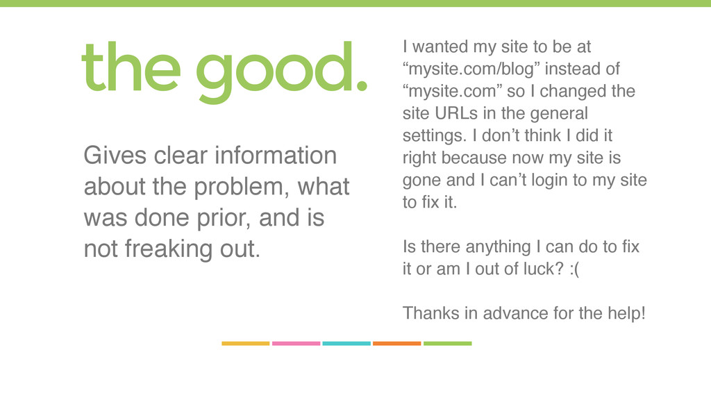 "I wanted my site to be at ""mysite.com/blog"" ins..."