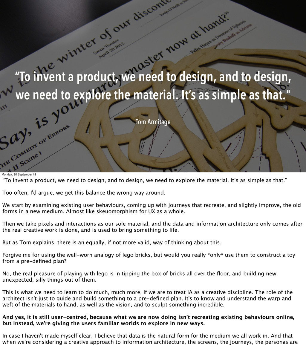"""To invent a product, we need to design, and to..."