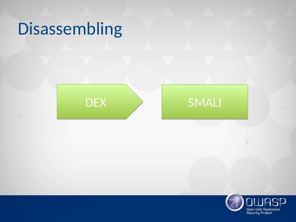 Disassembling DEX DEX SMALI SMALI