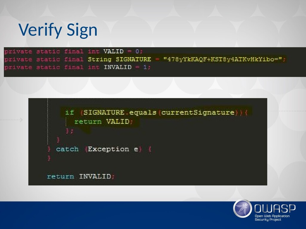 Verify Sign