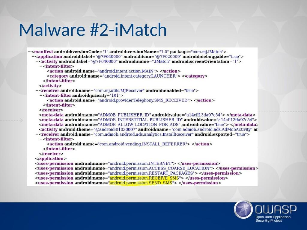 Malware #2-iMatch