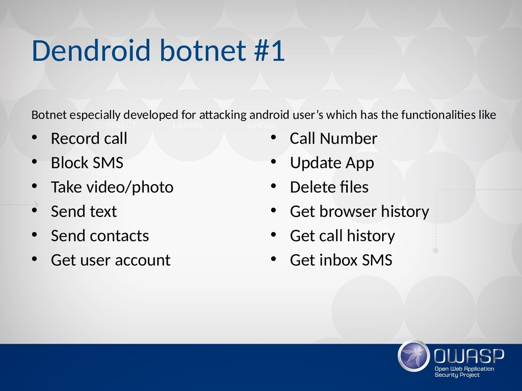 Dendroid botnet #1 Botnet especially developed ...