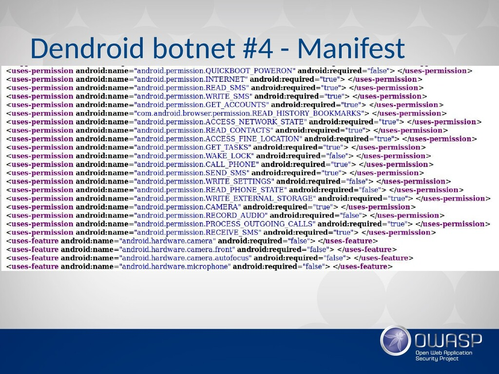 Dendroid botnet #4 - Manifest