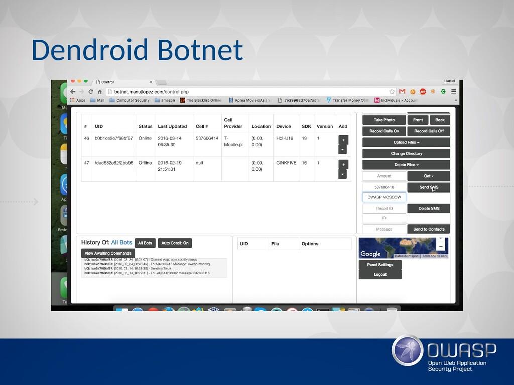 Dendroid Botnet