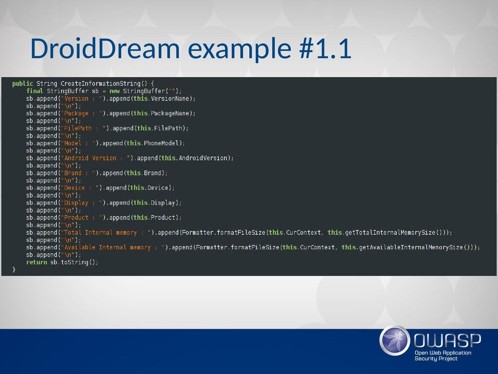 DroidDream example #1.1