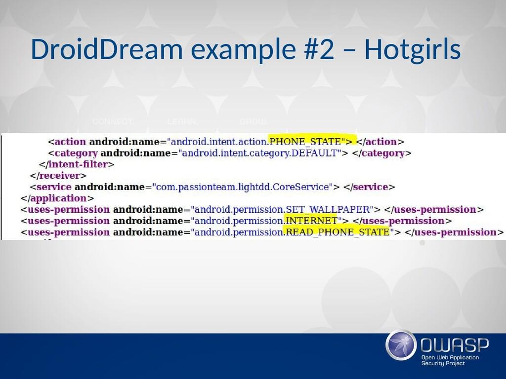 DroidDream example #2 – Hotgirls