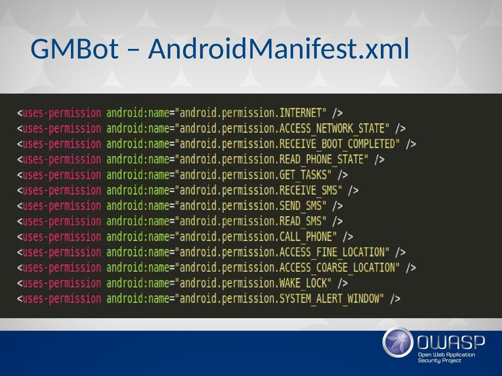 GMBot – AndroidManifest.xml