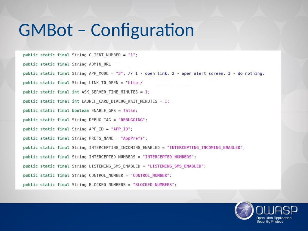 GMBot – Configuration