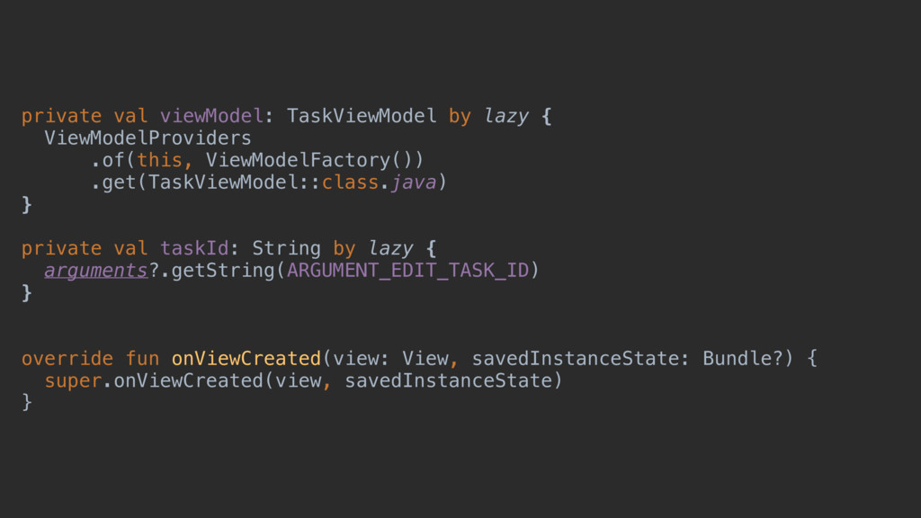 private val viewModel: TaskViewModel by lazy { ...