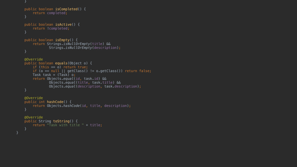 }e public boolean isCompleted() { return comple...