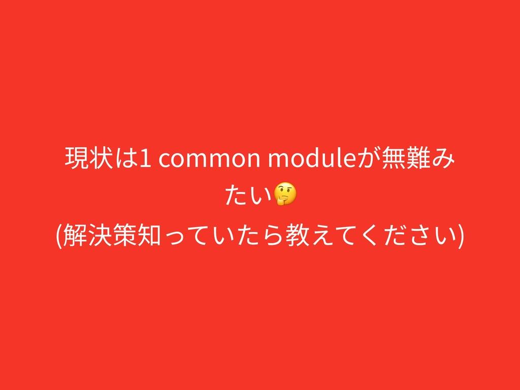 現状は1 common moduleが無難み たい (解決策知っていたら教えてください)