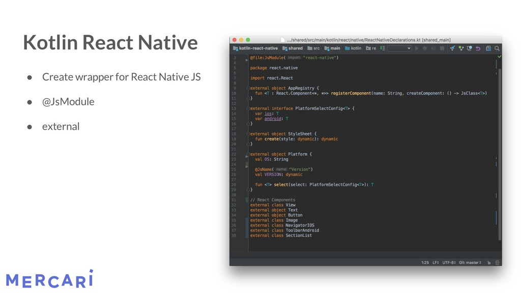 Kotlin React Native ● Create wrapper for React ...