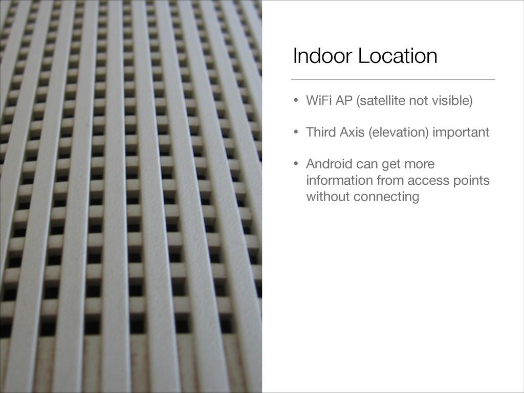Indoor Location • WiFi AP (satellite not visibl...