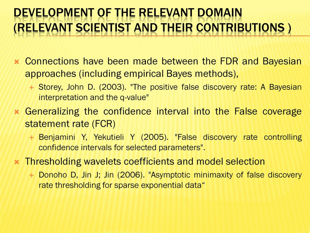 DEVELOPMENT OF THE RELEVANT DOMAIN (RELEVANT SC...
