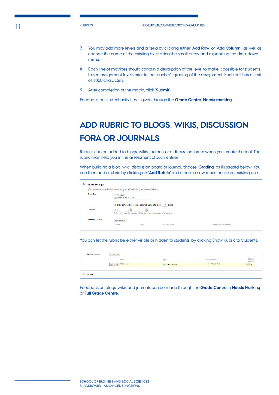 11 Rubrics Add rubric to blogs, wikis, discussi...