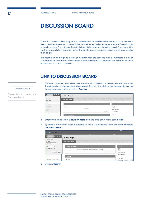 17 Discussion board Link to discussion board Sc...