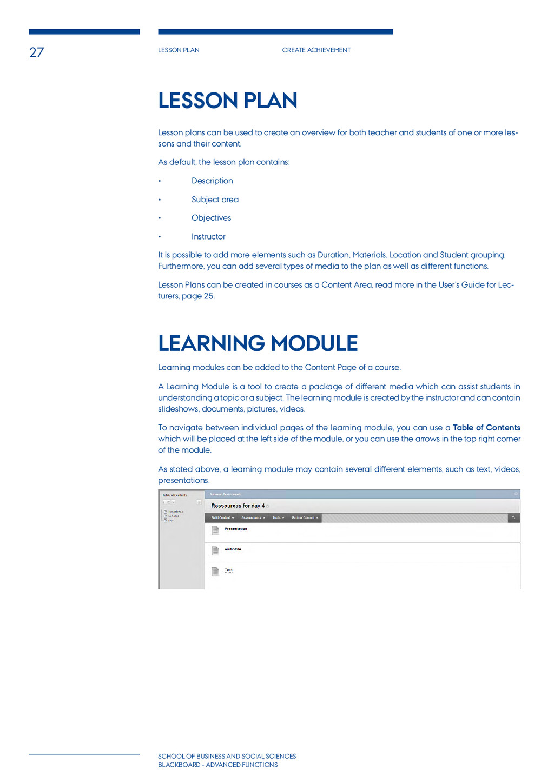 27 Lesson plan Create achievement School of BUS...