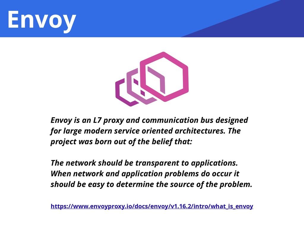 Envoy Envoy is an L7 proxy and communication bu...