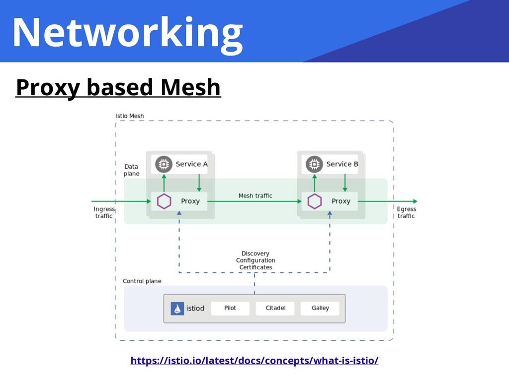 Networking Proxy based Mesh https://istio.io/la...
