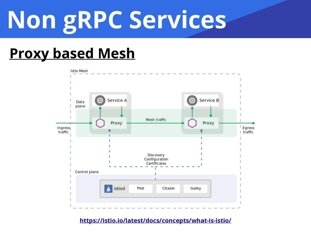 Non gRPC Services Proxy based Mesh https://isti...