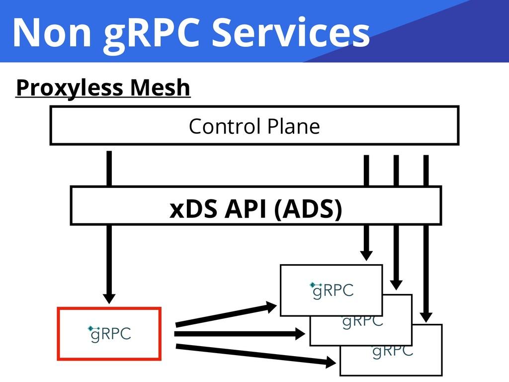 Non gRPC Services Proxyless Mesh Control Plane ...