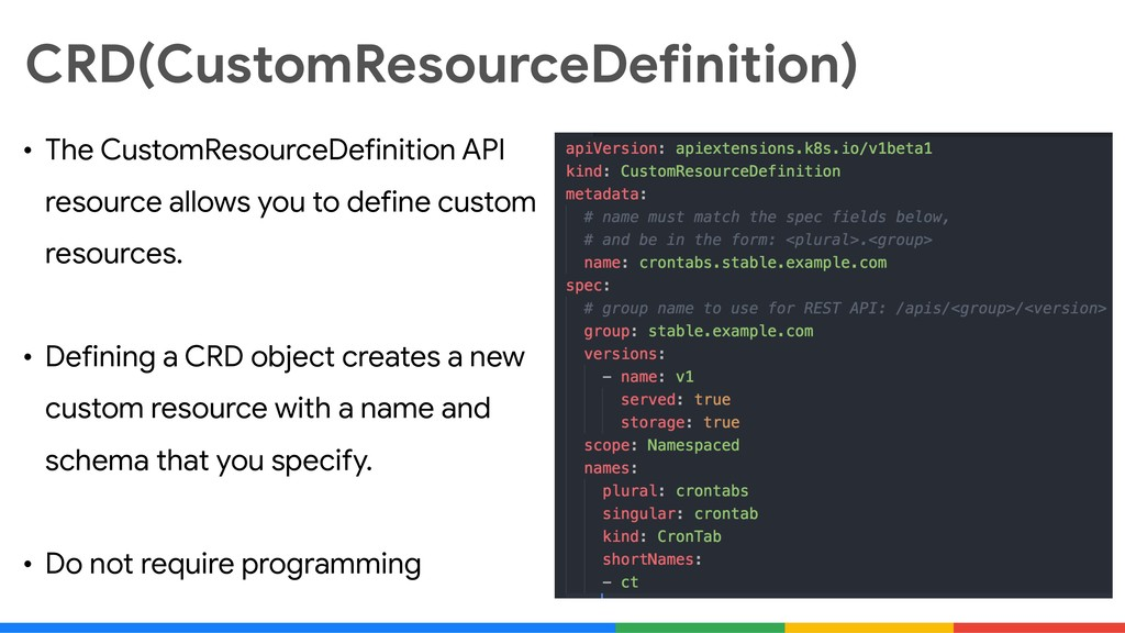 CRD(CustomResourceDefinition) • The CustomResou...