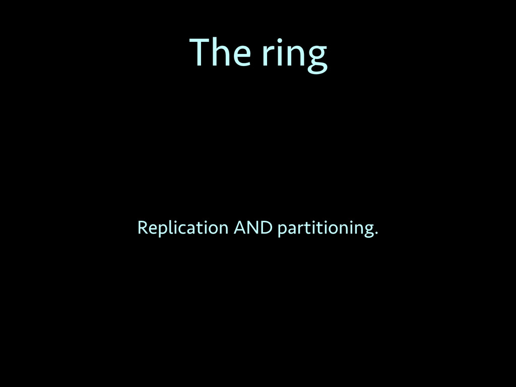 The ring Replication AND partitioning.