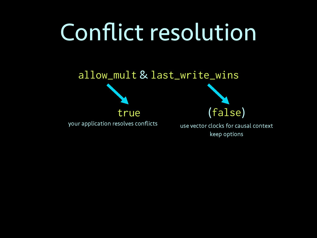 Conflict resolution allow_mult & last_write_wins...