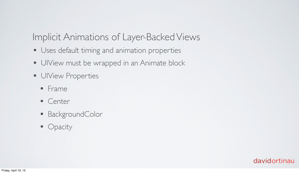 Implicit Animations of Layer-Backed Views • Use...