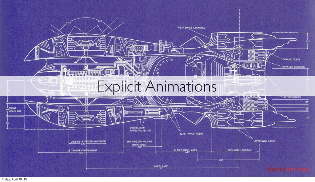 Explicit Animations Friday, April 19, 13