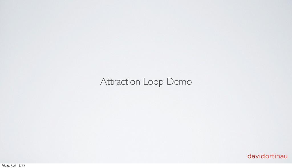 Attraction Loop Demo Friday, April 19, 13