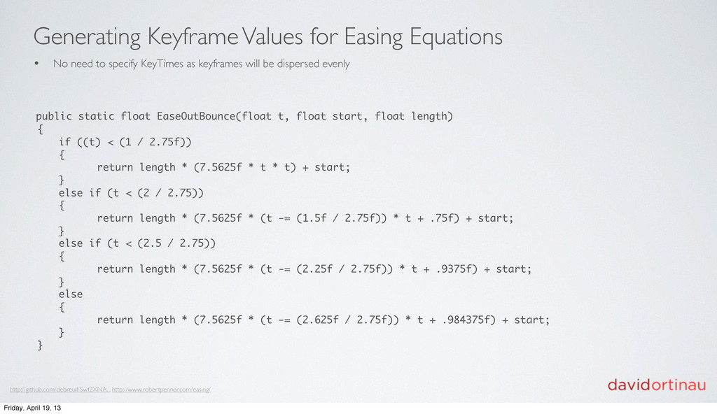 Generating Keyframe Values for Easing Equations...