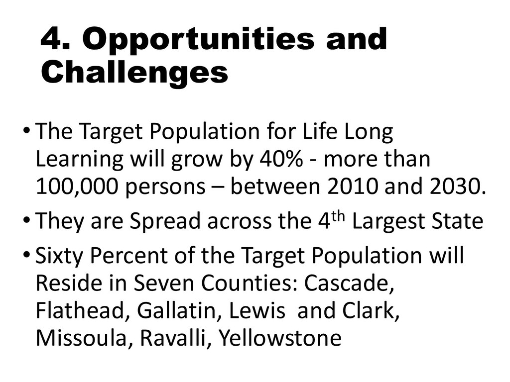 4. Opportunities and Challenges • The Target Po...
