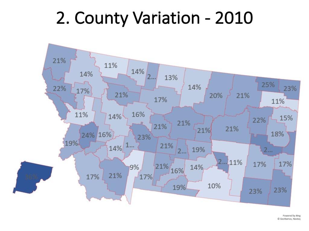 2. County Variation - 2010