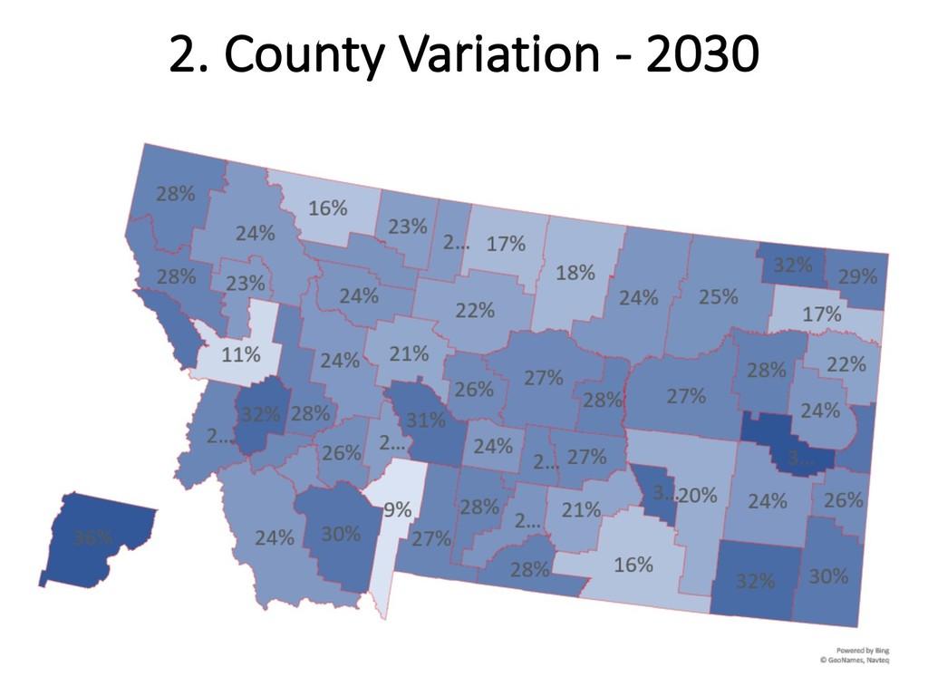 2. County Variation - 2030