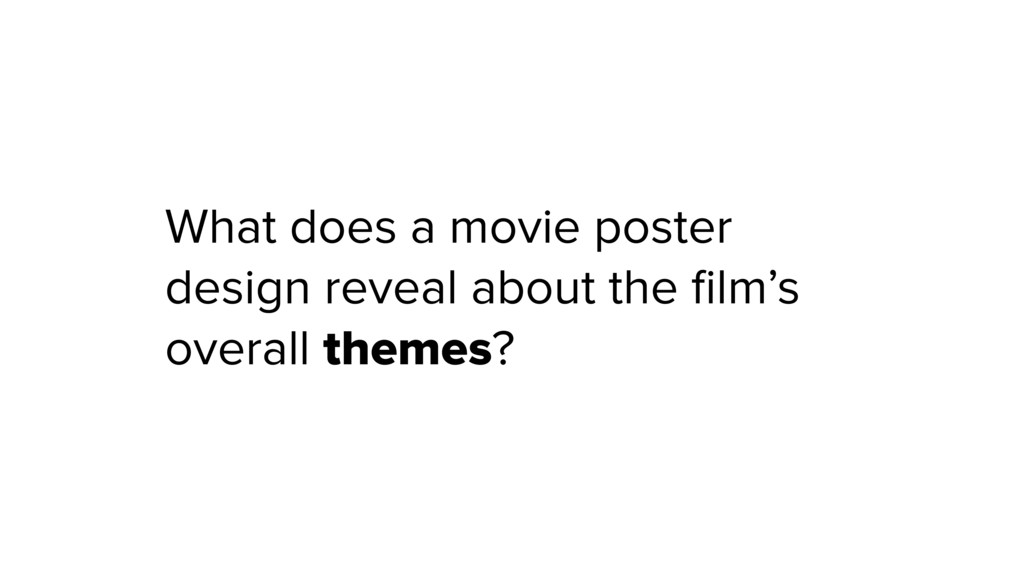 What does a movie poster design reveal about th...