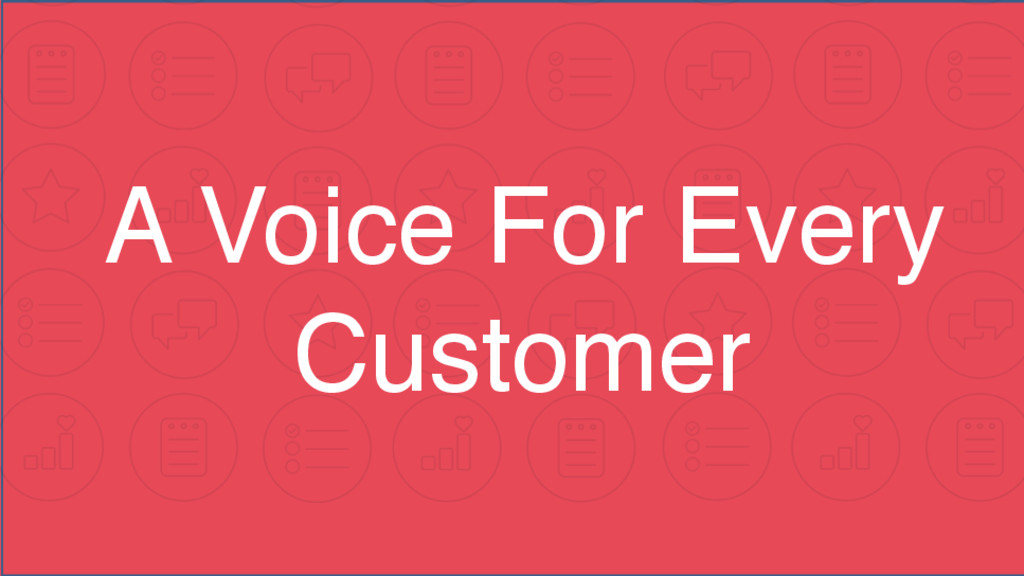 A Voice For Every Customer