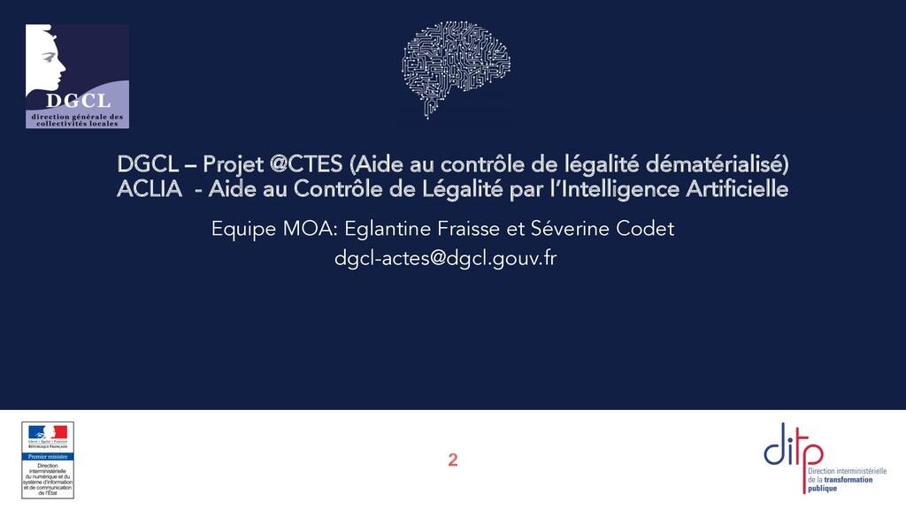 2 DGCL – Projet @CTES (Aide au contrôle de léga...