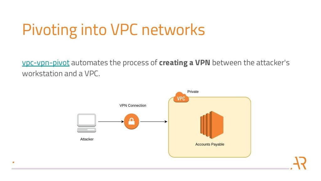 Pivoting into VPC networks vpc-vpn-pivot automa...