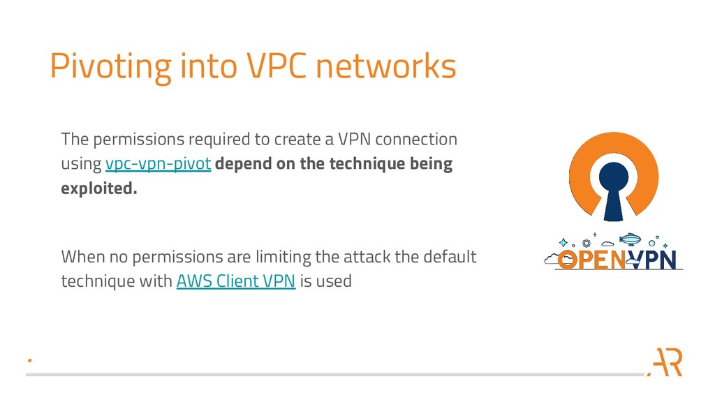 Pivoting into VPC networks The permissions requ...