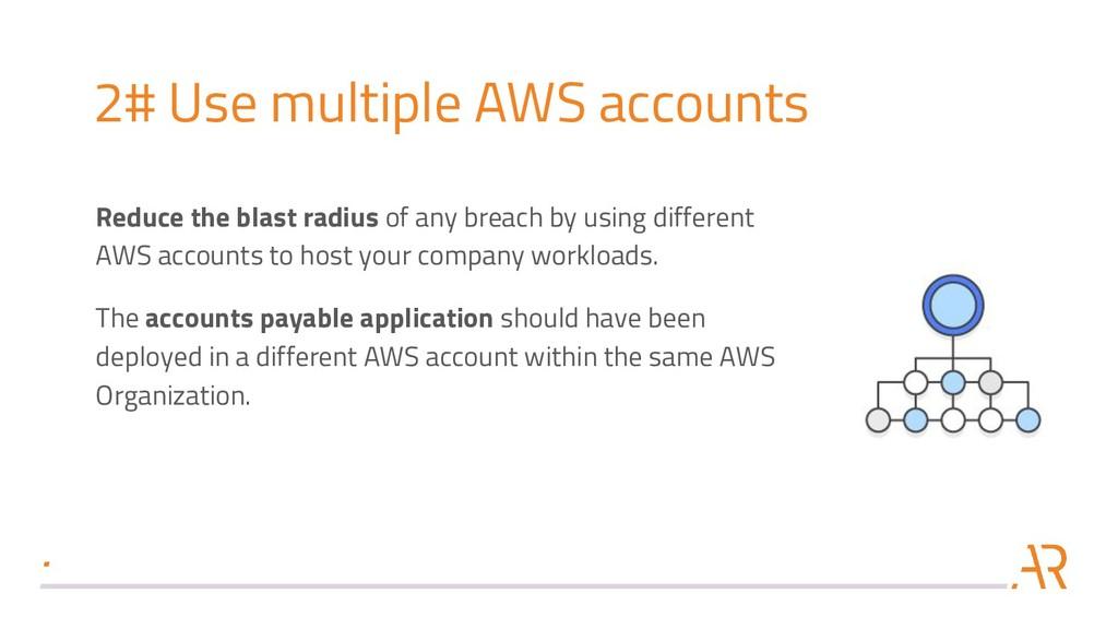 2# Use multiple AWS accounts Reduce the blast r...