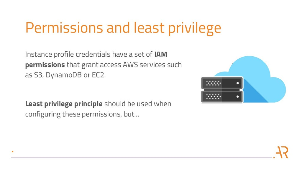 Permissions and least privilege Instance profil...