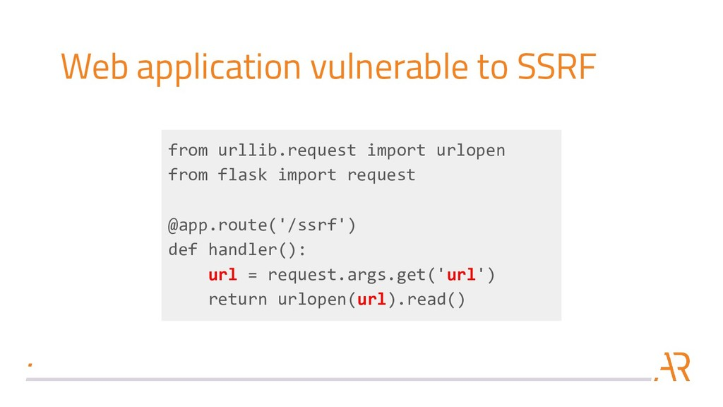 Web application vulnerable to SSRF from urllib....