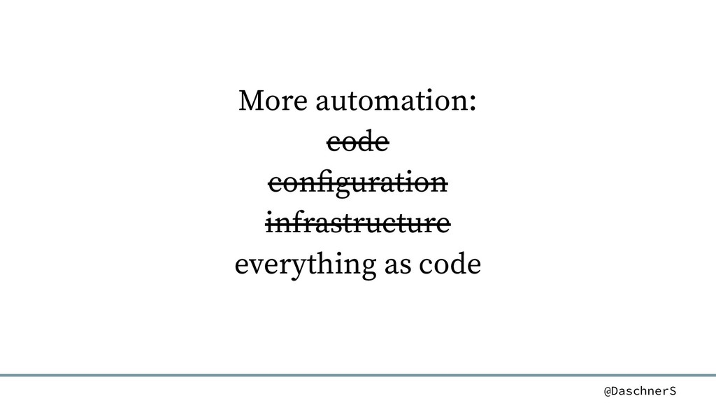 @DaschnerS More automation: code configuration ...