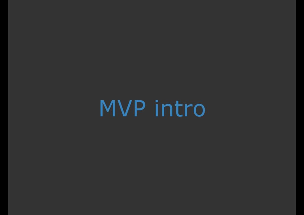 MVP intro